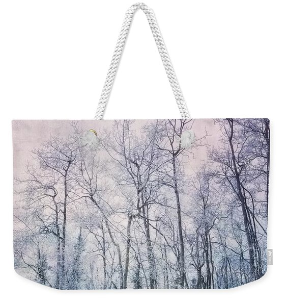 Winter Forest Weekender Tote Bag