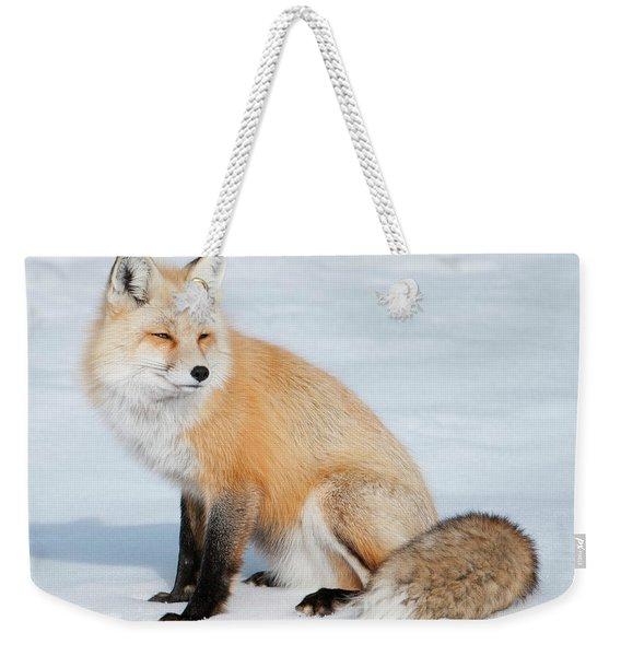Winter Fox Weekender Tote Bag