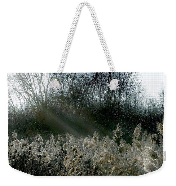 Winter Fringe Weekender Tote Bag