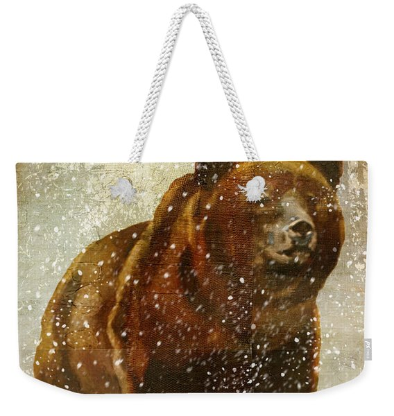 Winter Game Bear Weekender Tote Bag
