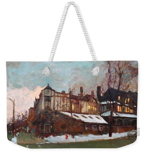 Winter In Buffalo Weekender Tote Bag