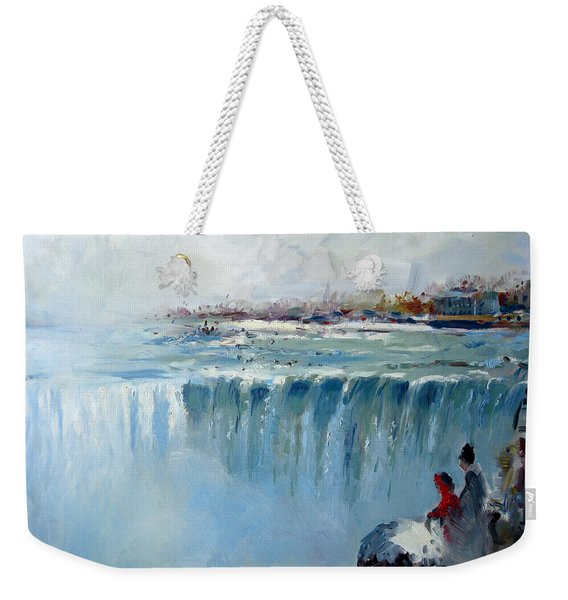 Winter In Niagara Falls Weekender Tote Bag