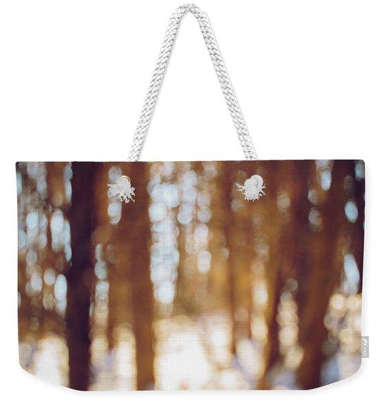 Winter In Snow Weekender Tote Bag