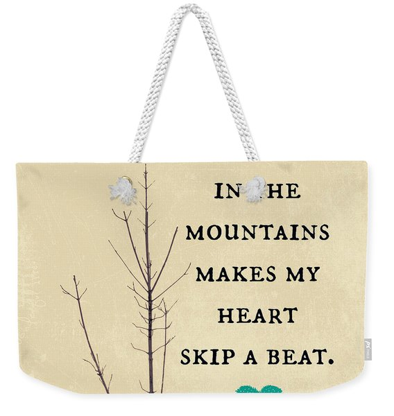 Winter In The Mountains Weekender Tote Bag