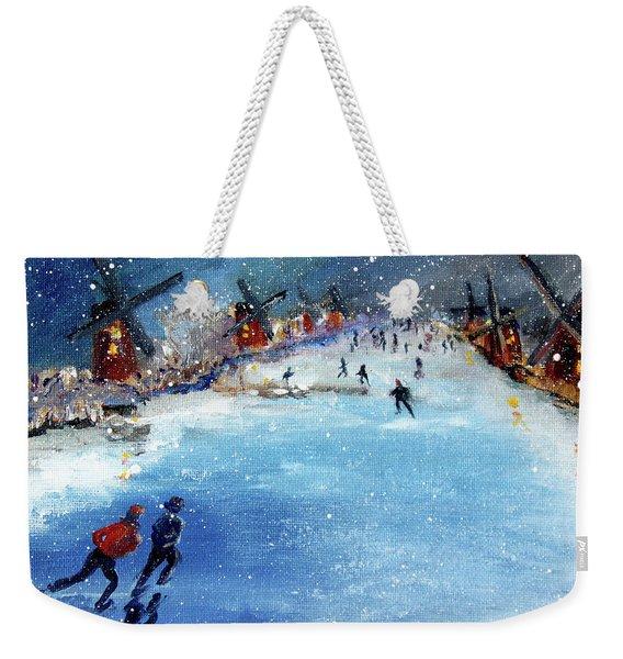 Winter In The Netherlands Weekender Tote Bag