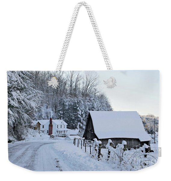 Winter In Virginia Weekender Tote Bag