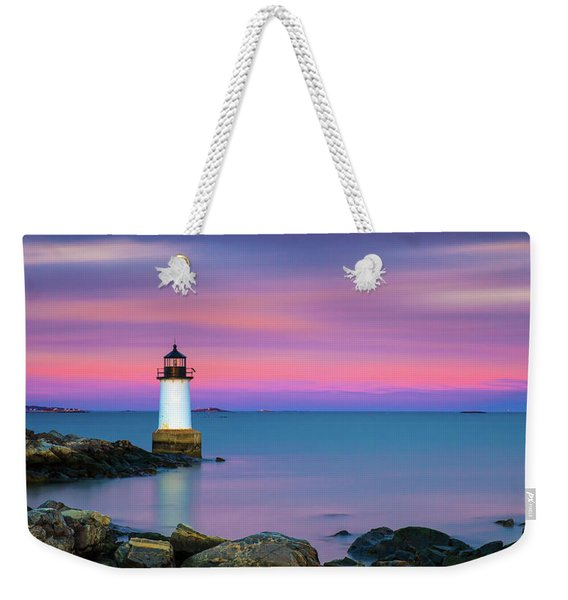 Winter Island Light 1 Weekender Tote Bag