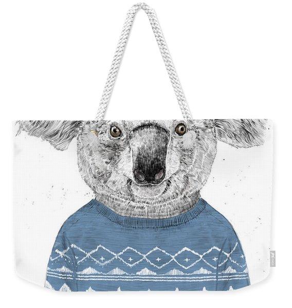 Winter Koala Weekender Tote Bag