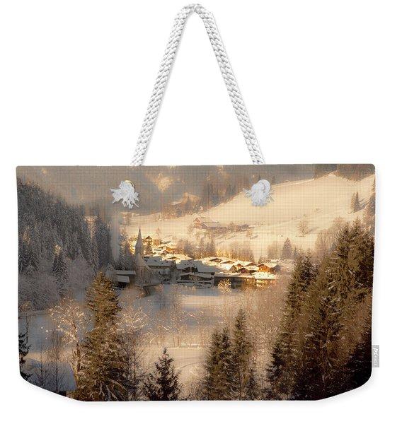 Winter Landscape Salzburger Land Weekender Tote Bag