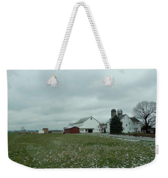Winter Letting Go Weekender Tote Bag