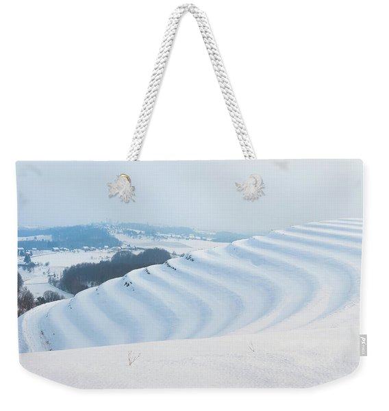 Winter Lines Weekender Tote Bag