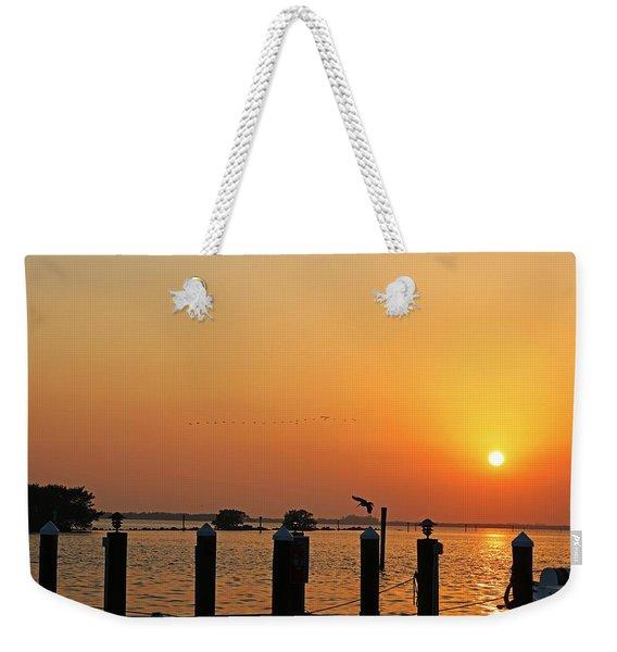 Winter Lullabye Weekender Tote Bag