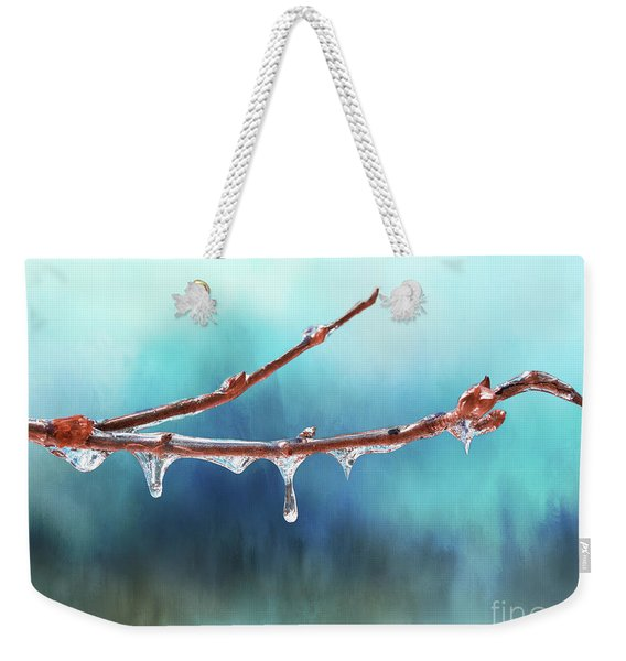 Winter Magic - Gleaming Ice On Viburnum Branches Weekender Tote Bag