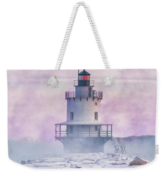 Winter Morning At Spring Point Ledge Weekender Tote Bag