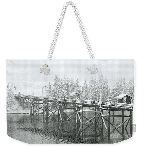 Winter Morning In The Pier Weekender Tote Bag
