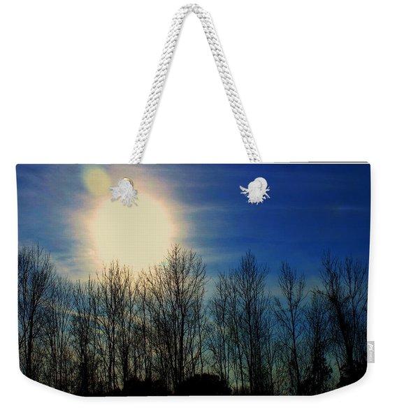 Winter Morning Weekender Tote Bag