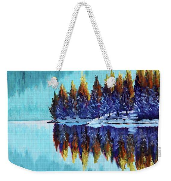 Winter - Mountain Lake Weekender Tote Bag