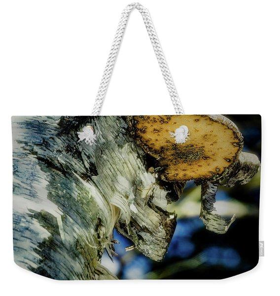 Winter Mushroom Weekender Tote Bag