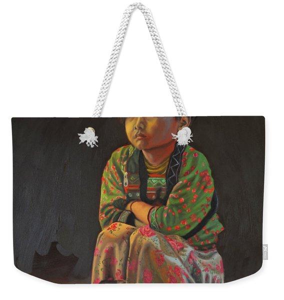 Winter Night Weekender Tote Bag