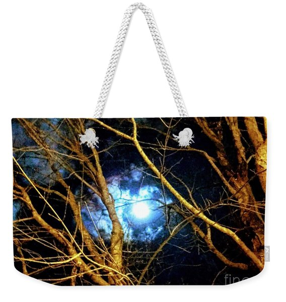 Winter Night Sky Weekender Tote Bag