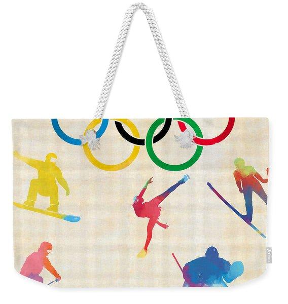 Winter Olympics Games Weekender Tote Bag