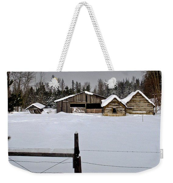 Winter On The Ranch Weekender Tote Bag