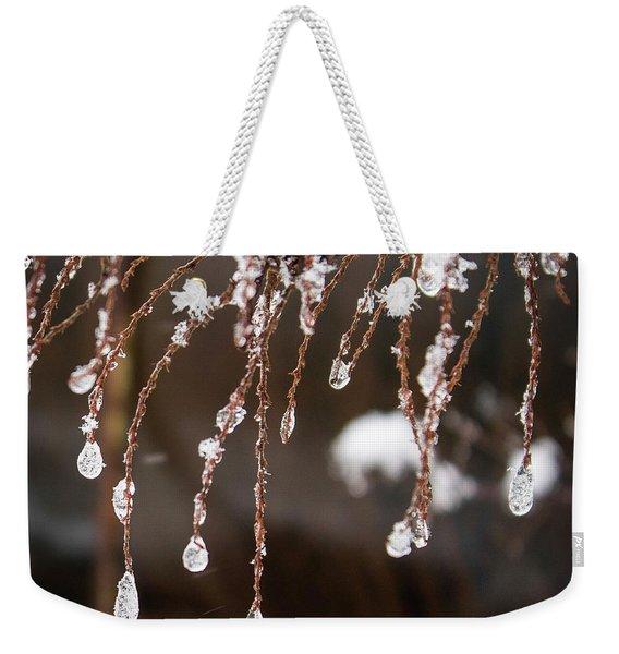 Winter Ornament Weekender Tote Bag