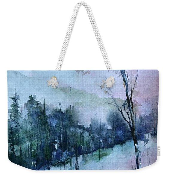 Winter Paradise Weekender Tote Bag