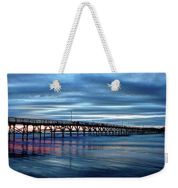 Winter Pier Weekender Tote Bag