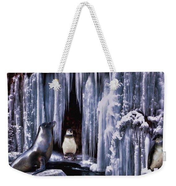 Winter Playground Weekender Tote Bag