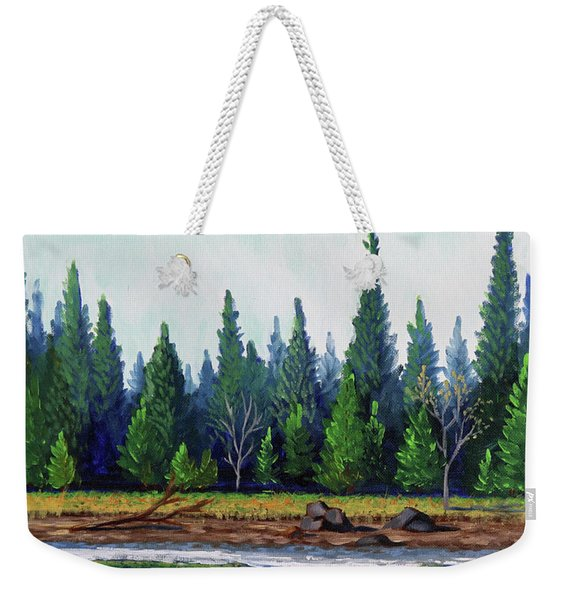 Winter Pond Weekender Tote Bag