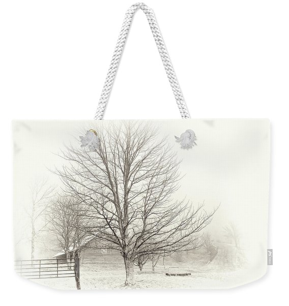 Winter Ranch Weekender Tote Bag