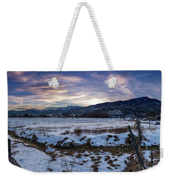 Sunset Range Weekender Tote Bag