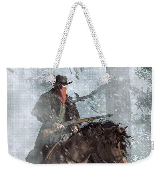 Winter Rider Weekender Tote Bag