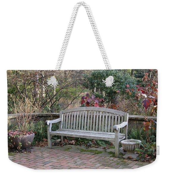 Winter Seating Weekender Tote Bag