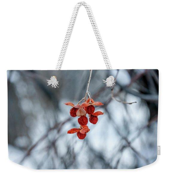 Winter Seeds Weekender Tote Bag