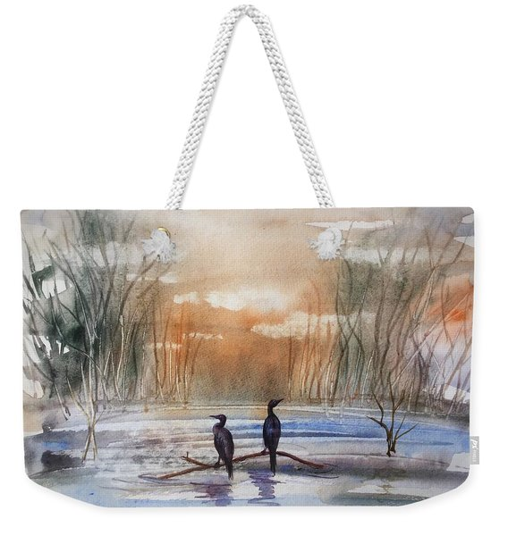 Winter Sereniny Weekender Tote Bag