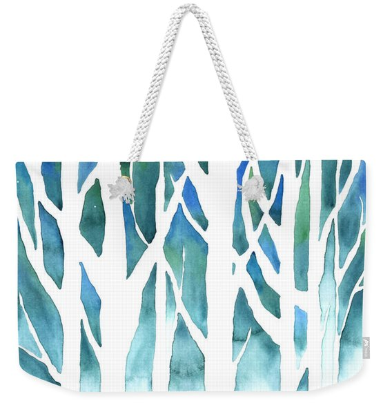 Winter Silhouette Weekender Tote Bag