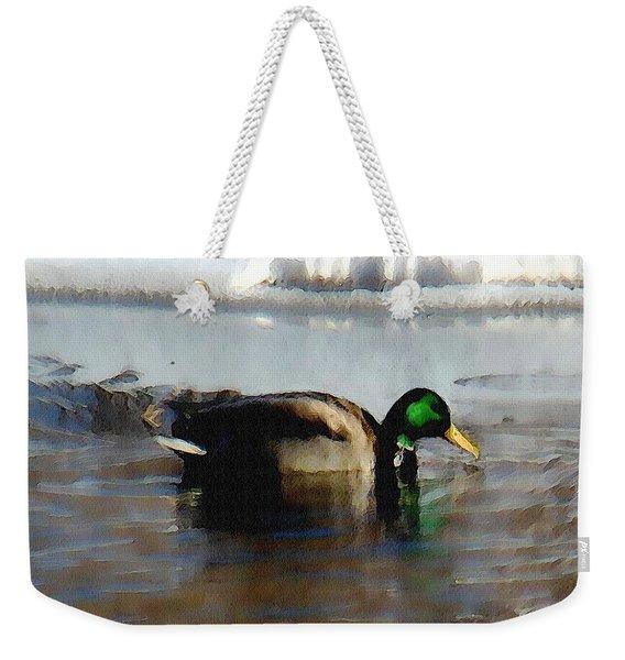 Winter Snacking Weekender Tote Bag