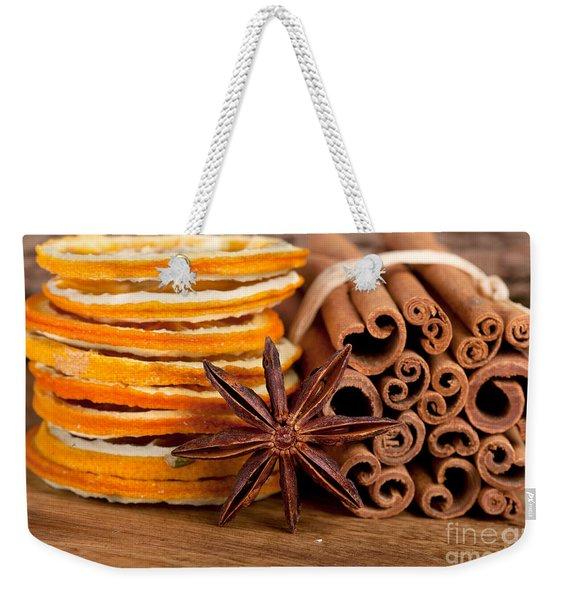 Winter Spices Weekender Tote Bag