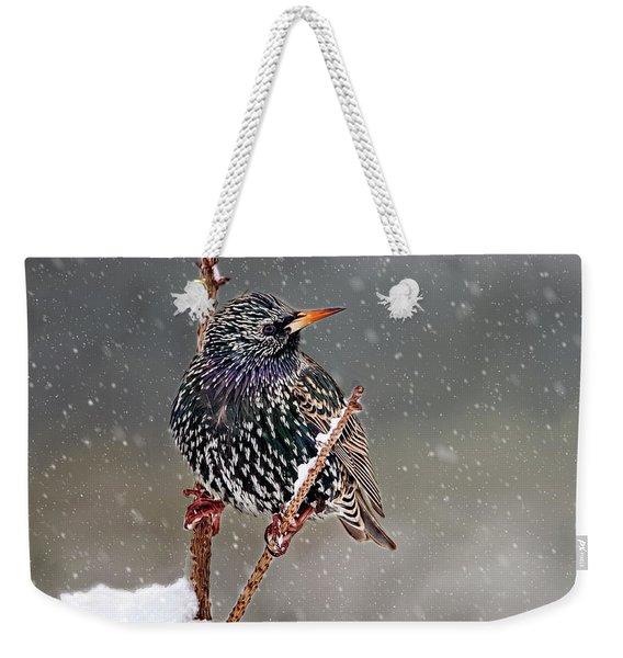 Winter Starling 2 Weekender Tote Bag