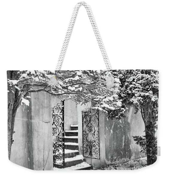 Winter Steps At The Vanderbilt In Centerport, Ny Weekender Tote Bag