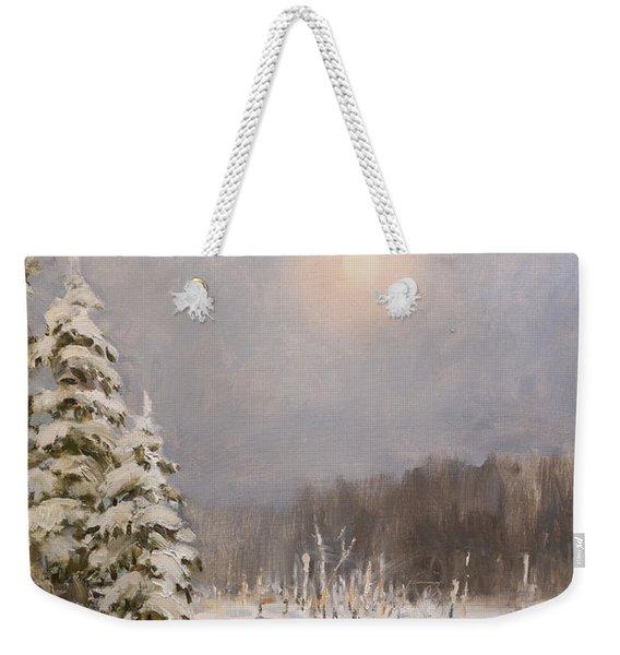 Winter Stillness Weekender Tote Bag