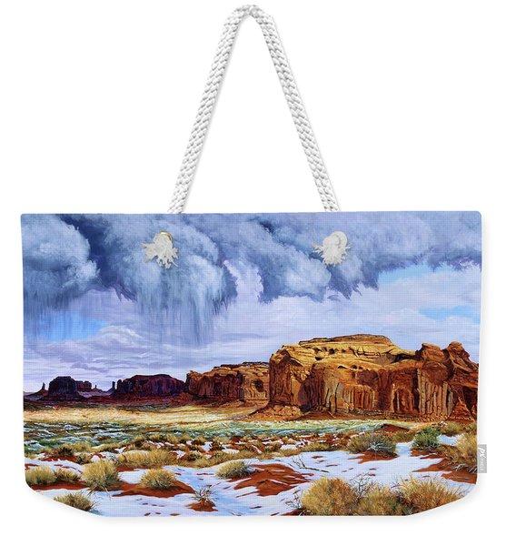 Winter Storm In Mystery Valley Weekender Tote Bag