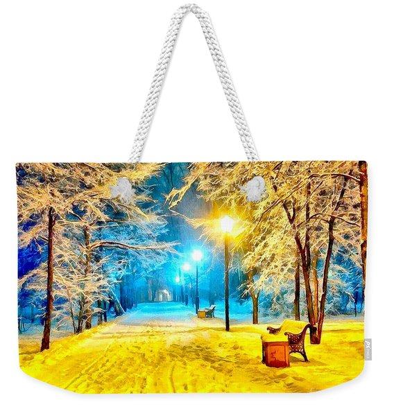 Winter Street Weekender Tote Bag