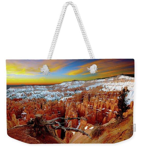 Winter Sunrise At Bryce Weekender Tote Bag