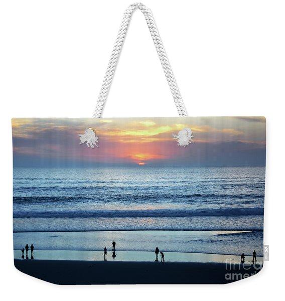 Winter Sunset At Carmel Beach Weekender Tote Bag