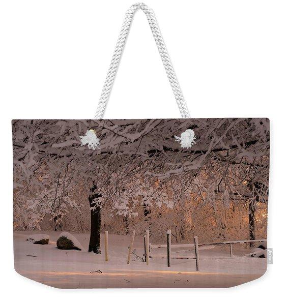 Winter Sunset Ft Hill Park Weekender Tote Bag