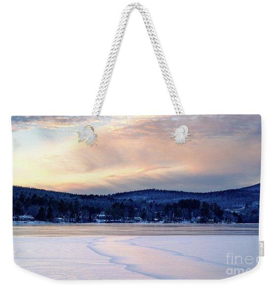 Winter Sunset On Wilson Lake In Wilton Me  -78091-78092 Weekender Tote Bag