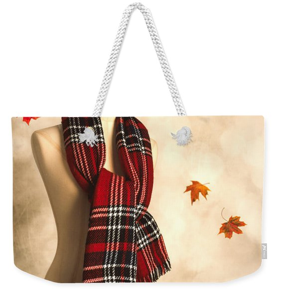Winter Tartan Scarf Weekender Tote Bag